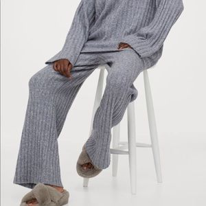 Ribbed Wool Blend Pants from H&M